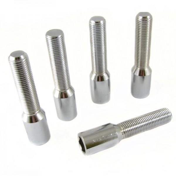 Radschrauben Set Silver Lang M14x1.25 + Key