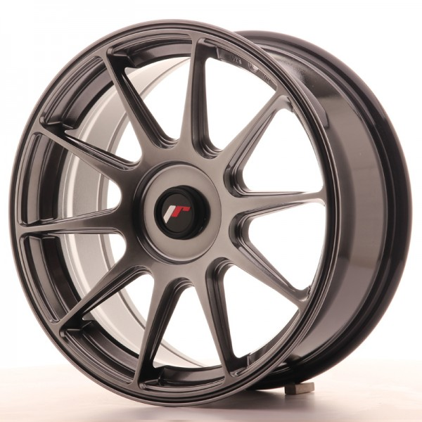 JapanRacing JR11 7,25x17 ET35 Blank Hiper Black