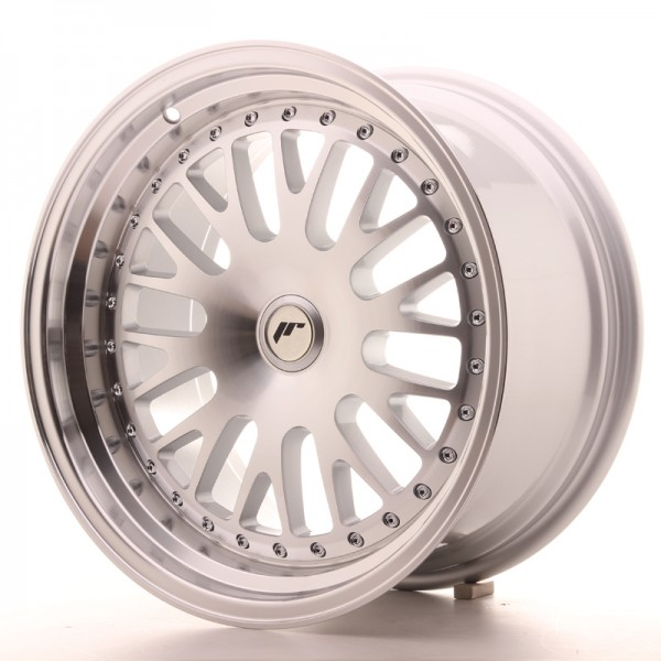 JapanRacing JR10 9x17 ET25-30 Blank Machined Face Silver