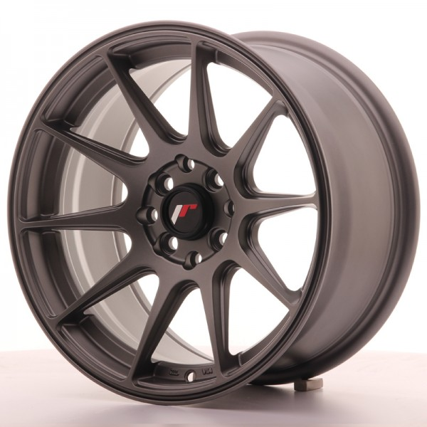 JapanRacing JR11 8x16 ET25 4x100/114 Gun metal