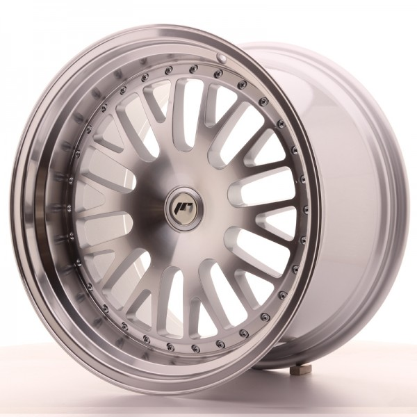 JapanRacing JR10 11x19 ET30 Blank Machined Face Silver