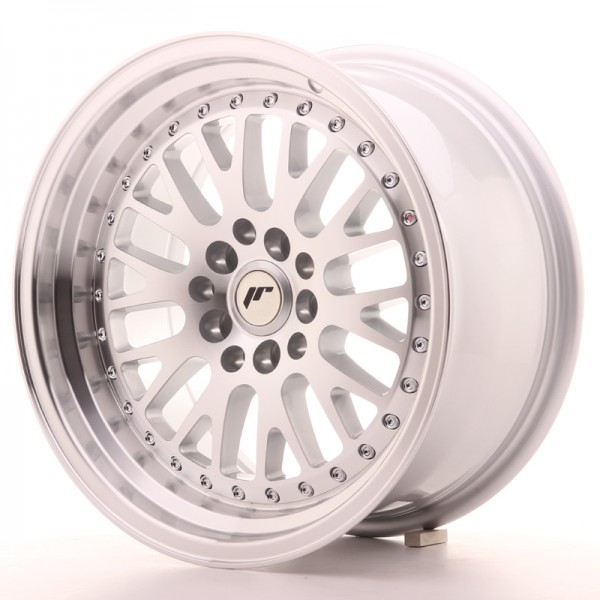 JapanRacing JR10 8x16 ET10 4x100/114 Machined Face Silver
