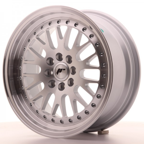 JapanRacing JR10 7x16 ET30 4x100/108 Machined Face Silver