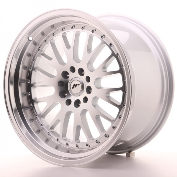 JapanRacing JR10 11x19 ET30 5x112/114 Machined Face Silver