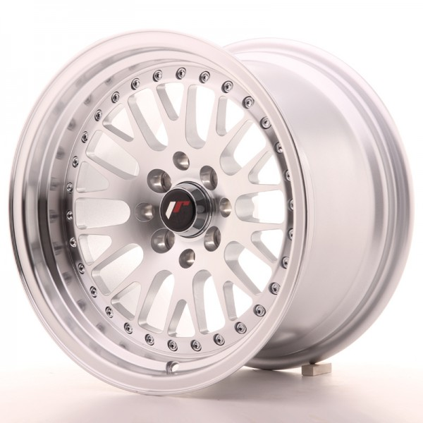 JapanRacing JR10 9x15 ET0 4x100/114 Machined Face Silver