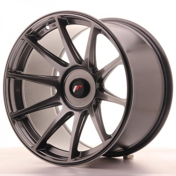 JapanRacing JR11 10,5x18 ET22 Blank Hiper Black