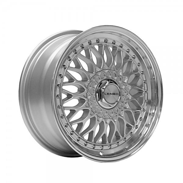 Lenso BSX 17x7.5 ET35 5x112 CB73.1 SILVER / MIRROR LIP