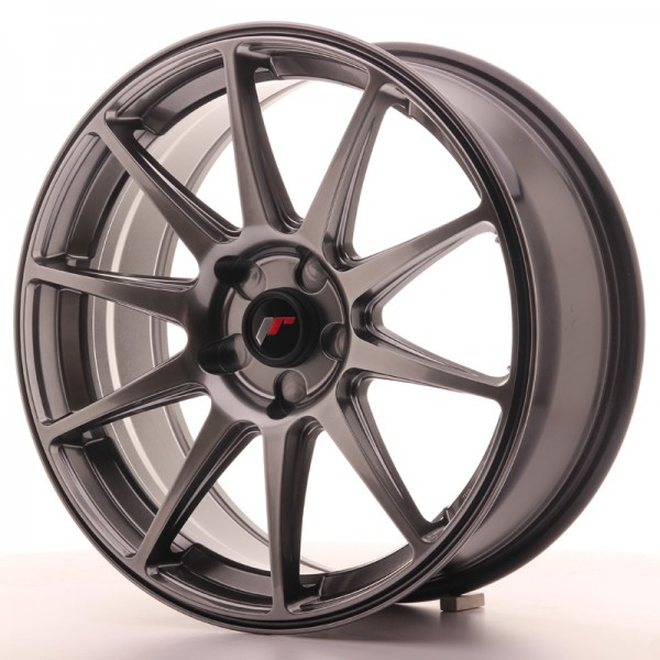 JapanRacing JR11 7,5x18 ET35-40 5H Hiper Black