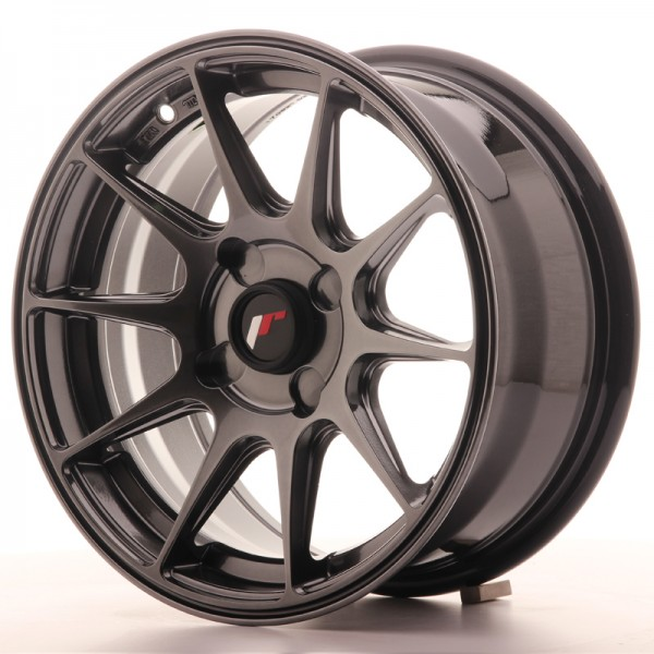 JapanRacing JR11 7x15 ET30 4H Hiper Black