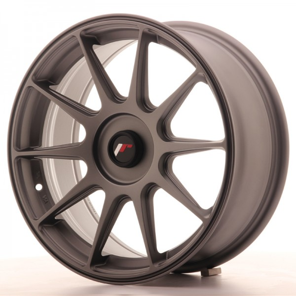 JapanRacing JR11 7,25x17 ET35 Blank Gun metal