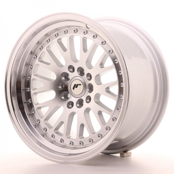 JapanRacing JR10 9x16 ET10 5x100/114 Machined Face Silver