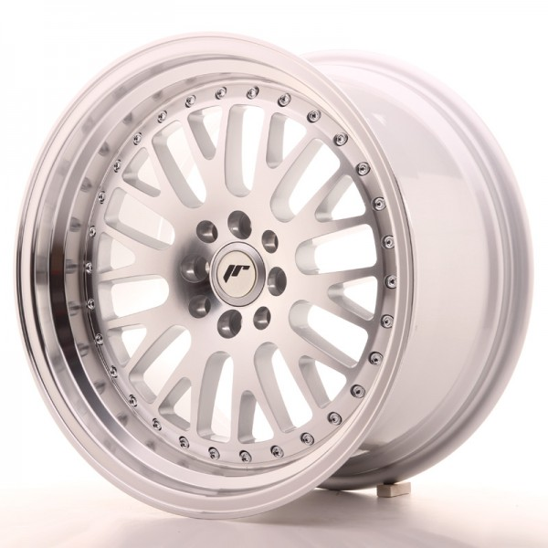 JapanRacing JR10 9x17 ET25 5x100/114 Machined Face Silver