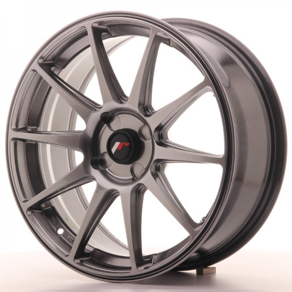 JapanRacing JR11 7,5x18 ET35-40 4H Hiper Black