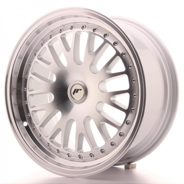 JapanRacing JR10 8x17 ET35 Blank Silver Machined Face
