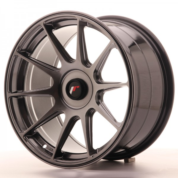 JapanRacing JR11 9x17 ET25-35 Blank Hiper Black