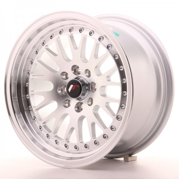 JapanRacing JR10 8x15 ET15 4x100/114 Machined Face Silver