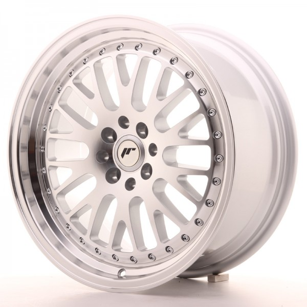 JapanRacing JR10 8x17 ET35 5x100/114 Machined Face Silver