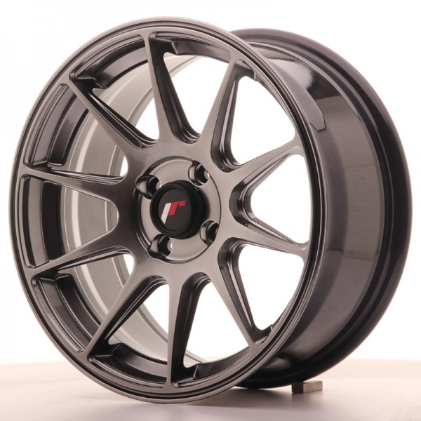 JapanRacing JR11 7x16 ET25 4x100 Hiper Black